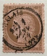 Timbre France YT 58 III République 1871-75 (°) 10c Cérès Petits Chiffres CàD Calais (côte 13 Euros) – 386o - 1871-1875 Cérès