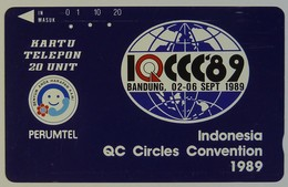 INDONESIA - Private - 20 Units - QC Circles Convention 1989 - Permutel - Indosat - Used - Indonesia