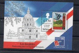 SAINTE-HELENE - SAINT-HELENA - 1999 - LES INVALIDES - THE INVALIDS - NAPOLEON - PHILEXFRANCE 99 - B/F - M/S - - Sainte-Hélène