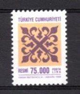 1998 TURKEY OFFICIAL STAMP MNH ** - Sellos De Servicio