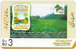 Oman - Hayyak GSM Refill Card - Khareef Festival 2005 - Exp.31.12.2008, 3Rial, Used - Oman