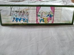 Plaque De Verre Peinte à La Main  Lanterne Magique - Campagne D'Italie 1859 - Napoléon III Et François Joseph - T BE - Plaques De Verre