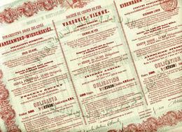 CHEMIN De FER VARSOVIE - VIENNE De 1867 - Actions & Titres