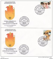 L4S024 NATIONS UNIES 1988 Wien FDC Internationaler Tag Der Helfer  S6,s7,50  06 05 1988/  2 Envel.  Illus. - FDC