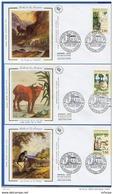 L4T266 FRANCE 1995 6 FDC Fables De La Fontaine 2,80f Château Thierry 24 06 1995 / 6 Env. Illus. - FDC