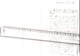 27 - GISORS - FRANC-MACONNERIE - Lettre De 1860 Pour Démission De La Loge Des Frères De Blanmont à GISORS - Cachet HOTEL - Vieux Papiers
