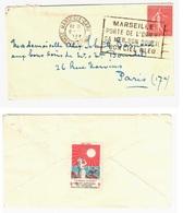 MARSEILLE Bouches Du Rhône Lettre Mignonette 50c Semeuse Lignée Yv 199 Ob 1927 Etiquette Défense TUBERCULOSE 1928 1929 - Covers & Documents