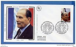 L4T687 FRANCE 1997 FDC François Mitterand 3,00f Château Chinon 04 01 1997/env. Illus. - 1990-1999