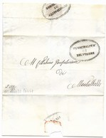 REPUBBLICA ROMANA - DA BELVEDERE A MONTALBODDO -20.4.1849. - ...-1850 Voorfilatelie