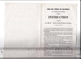 27 - GISORS - FRANC-MACONNERIE - LOGE Des FRERES De BLANMONT - Instructions à Présenter Aux Candidats - RARE - 1858 Env - Vieux Papiers