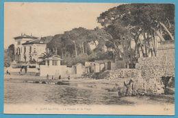 JUAN-LES-PINS - La Pinède Et La Plage - Carte Circulé 1924 - Antibes