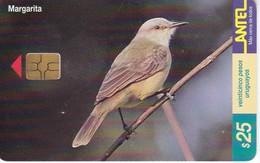 Nº 131 TARJETA DE URUGUAY DE UNA MARGARITA (CHIP NEGRO) (PAJARO-BIRD) - Uruguay