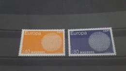 LOT 485649 TIMBRE DE ANDORRE NEUF** LUXE N°202/203 VALEUR 36,5 EUROS - Collections