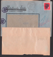 Zöblitz Sächsische Schwärzung 3.7.45 Erstverwendung, OPD 6 Pf. SBZ 43BI(2) Durchstochen, Zweitverw. 11.7.45 Dresden N30 - Zone Soviétique