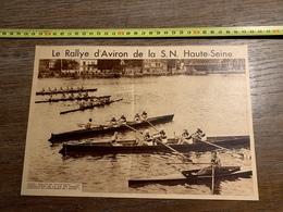1934 M RALLYE D AVIRON DE LA SN HAUTE SEINE A JUVISY CORBEIL - Colecciones