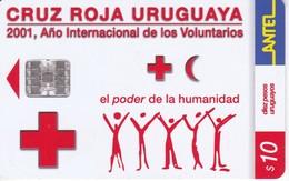 Nº 192 TARJETA DE URUGUAY DE LA CRUZ ROJA (RED CROSS) - Uruguay