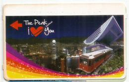 HONG-KONG.  The Peak Tram, To The Victoria Peak. Ticket The Peak I Love You - Tramways