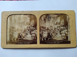 Photo Stéréo Tissu Second Empire - La Belle Au Bois Dormant - Théâtre  TBE - Stereoscopic