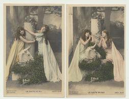 Lot 2 Cartes - Artistes Robinne Et Spindler - Le Culte Du Gui - Photographe Manuel - Artisti