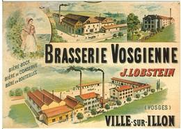 CARTOLINA - BRASSERIE VOSGIENNE - J. LOBSTEIN - VILLE SUR ILLON - NUOVA - Sonstige Gemeinden