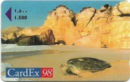 Oman - Cardex 98 Turtle - 40OMNA - 10.1998, 2.000ex, Mint No Blister - Oman
