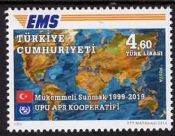 Turkey - 2019 - UPU And EMS Cooperation - 25 Years - Mint Stamp - Neufs
