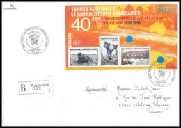 0474 Taaf Terres Australes Antarctic Lettre (cover) 1995 Bloc 2 Création Du Territoire St Paul Amsterdam Recommandé - Storia Postale