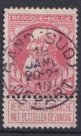 """106-  COB/OBP 74 (o)   """"Gand(sud)depart"""" +2 - 1893-1900 Schmaler Bart"""