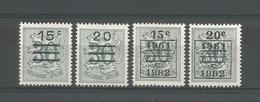 Belgium 1960 Heraldische Leeuw  OCB 1172/1173A ** - Belgique