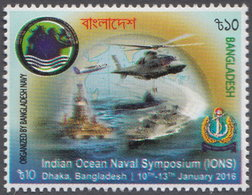 Bangladesh (2016) Yv. 1027 /  Flugzeug - Helicopter - Military - Army - Soldier - Ships - Aurplanes - Helicopters