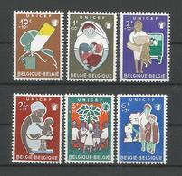 Belgium 1960 Unicef OCB 1153/1158 ** - Belgique