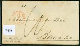 BRIEFOMSLAG  Uit 1865 Van DEN HELDER Naar BOIS LE DUC ('s-HERTOGENBOSCH) MET DEN LOODS  (11.774) - 1852-1890 (Guillaume III)
