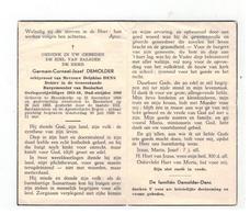 Doodsprentje Geb.te Steenkerke 1888 Germain-Corneel-Jozef DEMOLDER,echtgen.v Mevr.Delph. DENS,gestorven Booischot 1980 - Religion &  Esoterik