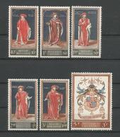 Belgium 1959 Cultural Issue OCB 1102/1107 ** - België
