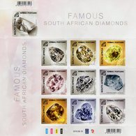 South Africa - 2019 - Famous South African Diamonds - Mint Self-adhesive Stamp Sheet With Hot Foil Imprint - Afrique Du Sud (1961-...)