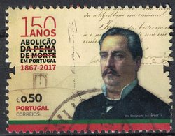 Portugal 2017 Oblitéré Used Augusto César Barjona De Freitas Abolition De La Peine De Mort SU - 1910-... République