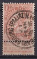 """117-  COB/OBP 57 (o)  Depot-Relais """"Carlsbourg(Palliseul)"""" T1L+30 - 1893-1900 Schmaler Bart"""
