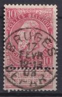 """118-  COB/OBP 58 (o)   """"Bruges-Depart"""" +8 - 1893-1900 Schmaler Bart"""