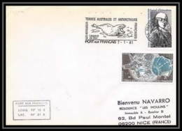 1302 Kerguelen 7/1/1981 TAAF Antarctic Terres Australes Lettre (cover) - Storia Postale