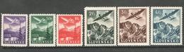 Slowakije, Mi 48-53 Jaar 1963, Luchtvaart,  Reeks, Postfris Met Plakker (MH) - Neufs
