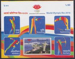 Bangladesh (2016) Yv. Bf. 58 - Imperf.   /  Olympic Games Rio - Golf - Shooting - Athletics - Swimming - Archery - Verano 2016: Rio De Janeiro