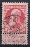 """124-  COB/OBP 74 (o)   """"Looz"""" +4 - 1893-1900 Schmaler Bart"""