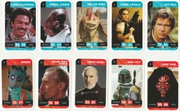 Lot De 60 Cartes STARS WARS LECLERC 2018 - Han Solo - Amidala - Anakin - Leia - - Stickers