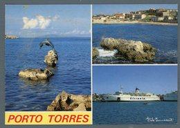 °°° Cartolina - Porto Torres Vedute Nuova °°° - Sassari