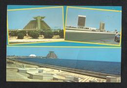Qatar Q.G.P.C. Building & Sherton Hotel & Corniche Street Picture Postcard View Card - Qatar