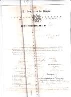 """95 - PONTOISE - FRANC-MACONNERIE - Loge De Pontoise """"Les Amis Du Peuple"""" FETE SOLSTICIALE Lettre Adres à GISORS En 1854 - 1849-1876: Période Classique"""
