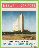 Voyo  GRAND HOTEL N'GOR Dakar Senegal Hotel Label 1970s Vintage - Etiquettes D'hotels