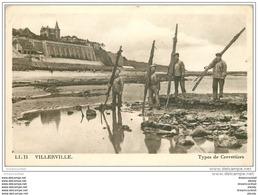 14 VILLERVILLE. Types De Crevettiers 1948 - Villerville