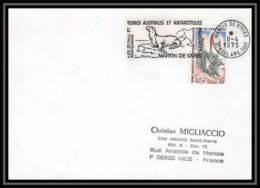 1833 N°48 OBL Otarie 8/4/1975 TAAF Antarctic Terres Australes Lettre (cover) - Storia Postale