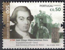 Portugal 2017 Used José Diogo Mascarenhas Neto Administrateur Services Postaux SU - 1910-... République